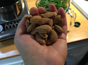 Real almonds have husks.