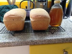 Buying local honey supports local bee keepers who support local bee populations. Also, honey makes your bread delicious.