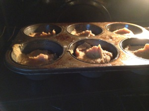 Feeling a bit indulgent, I used my oversized muffin tin for this. See you in 16-18 minutes.